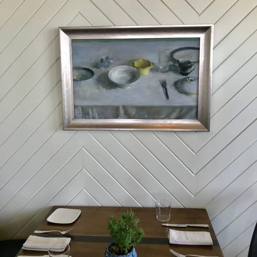 Paintings by Marc Whitney seen at Shutters on the Beach, Santa Monica - Table Setting painting