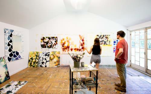 Paintings by Caroline Wright at Caroline Wright Art, Austin - Artist's studio