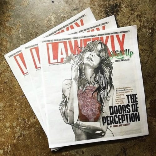 Paintings by Brandon Boyd seen at Private Residence, Los Angeles - Heart of Gold in LA Weekly