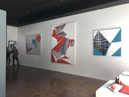 Paintings by Jane Barthès seen at Fermilab, Batavia - Magical Forms and Spaces #2