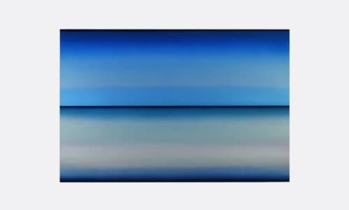 Paintings by Casper Brindle Art seen at William Turner Gallery, Santa Monica - Untitled, Blue - 2019