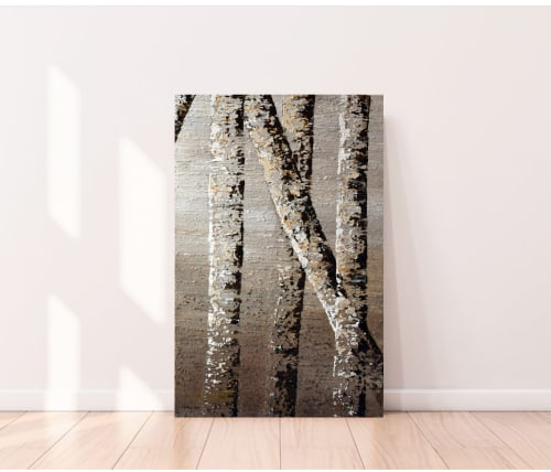 Paintings by DANIELA PASQUALINI seen at Private Residence, Modena - Birch Trees II