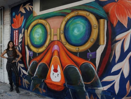 Murals by Isabella Addison seen at Wynwood, Miami - Aiko Mural