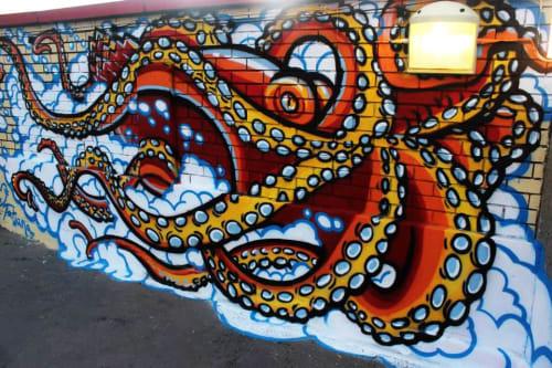 Street Murals by Tatiana Alisova seen at London, London - STOREY's octopus