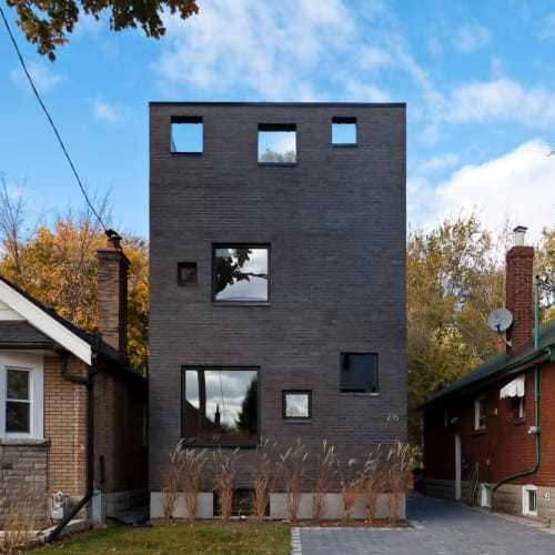 """Architecture by Atelier RZLBD seen at Private Residence, Toronto - """"Charcoal House"""" Project"""