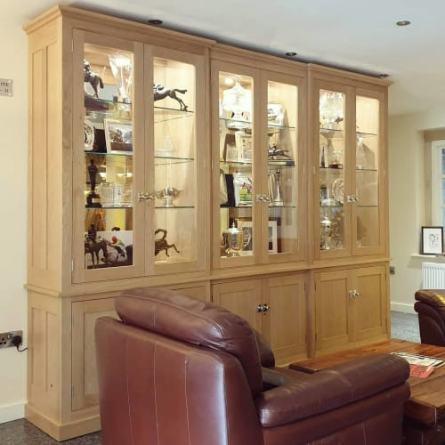 Furniture by Taylor Furniture Ltd seen at Santo's Higham Farm Hotel & Restaurant, Higham - American Oak Cabinet