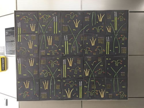 Public Mosaics by Jason Messinger Art seen at Illinois Medical District, Chicago - Garden