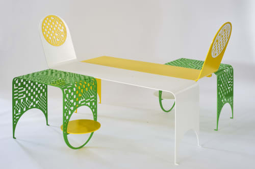 Chairs by Kin & Company at Inside/Out - The Vale Park, Brooklyn - Thin Check Chaise