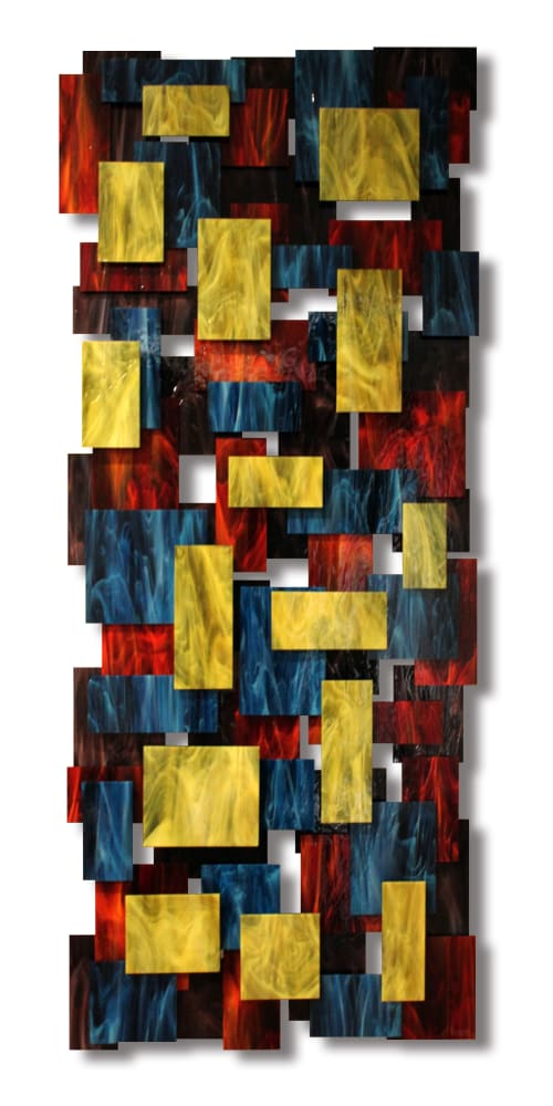 """""""Elevate"""" Glass and Metal Wall Art Sculpture 