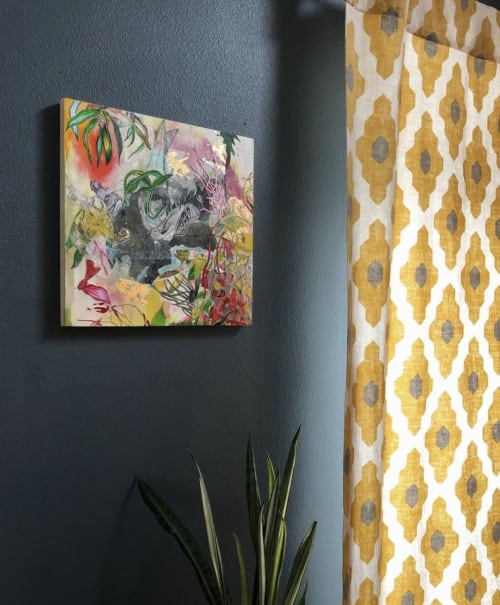 Art & Wall Decor by Victrola Design / Victoria Corbett Art seen at Private Residence, Austin - Into The Garden