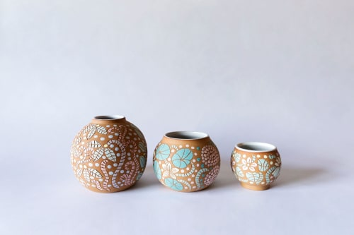 Vases & Vessels by Tina Fossella Pottery seen at Creator's Studio, Mill Valley - Flower Pots