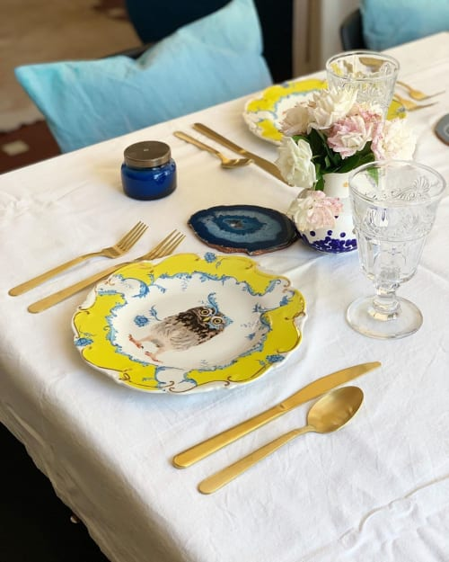 Ceramic Plates by Lou Rota seen at Private Residence, Córdoba - Owl