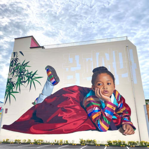 Murals by Royyal Dog seen at Suncheon-si, Suncheon-si - <Hope Blooms>