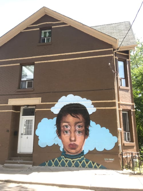 Murals by Alex Garant seen at Humbert Street, Toronto - Humbert Mural