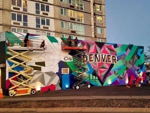 Street Murals by Jason T. Graves seen at RiNo Art District, Denver - Love this City - Visit Denver - Rino Art District - welcome mural