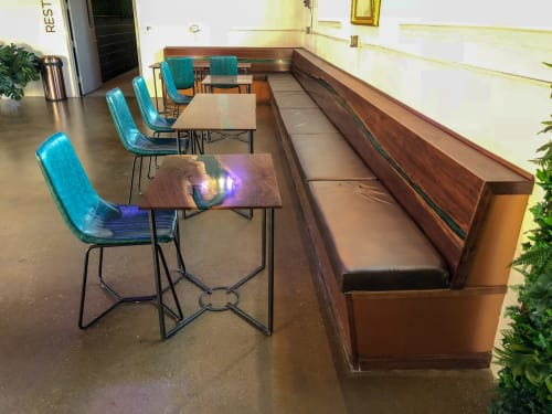 Tables by Sallie Plumley Studio seen at 704 Dawn St, Richmond - Tables and Banquette