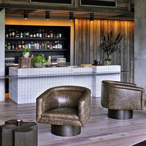 Chairs by Louis Interiors Inc. seen at 1 Hotel Brooklyn Bridge, Brooklyn - Lounge chairs