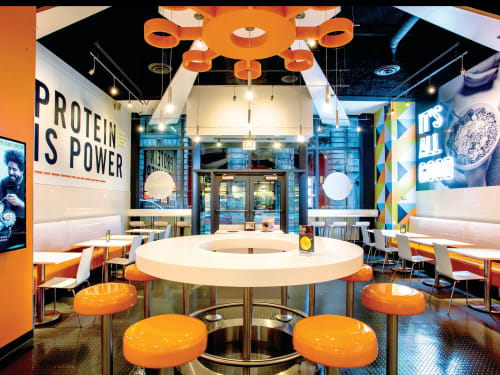 Signage by DesignScout seen at Protein Bar & Kitchen, Chicago - Protein Bar and Kitchen