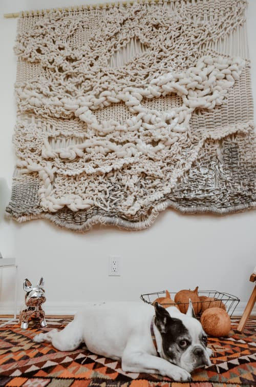 Macrame Wall Hanging by Ranran Design by Belen Senra seen at Private Residence, Los Angeles - Knotted Wall Art Commission