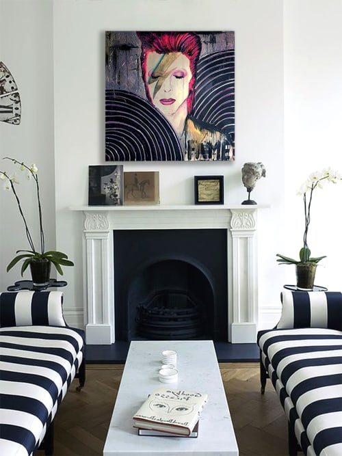 Paintings by Nickhartist seen at Private Residence, Sacramento - Bowie Fame