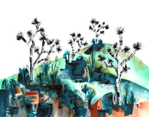 Paintings by Noelle Phares at Private Residence, Portland - Drenched Desert II