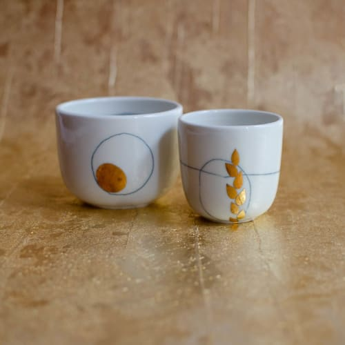 Nova Cup, Cappuccino and Espresso size   Cups by Boya Porcelain