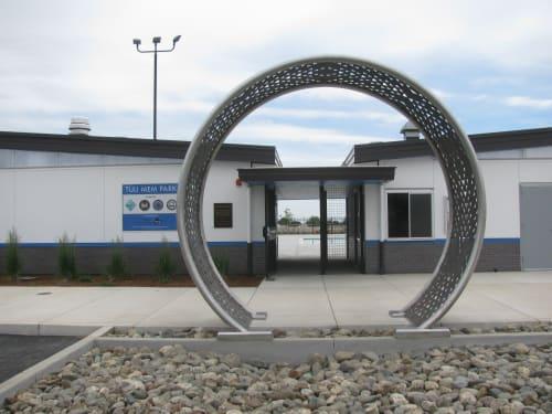 Public Sculptures by Mark Abildgaard seen at Tuli Mem Park, Esparto - Tuli Mem Gate