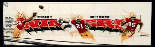 Murals by Illuminaries seen at Private Residence, San Francisco - Niners mural