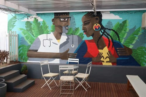 Murals by Resoborg seen at South Coast Road, Durban - Commissioned Mural