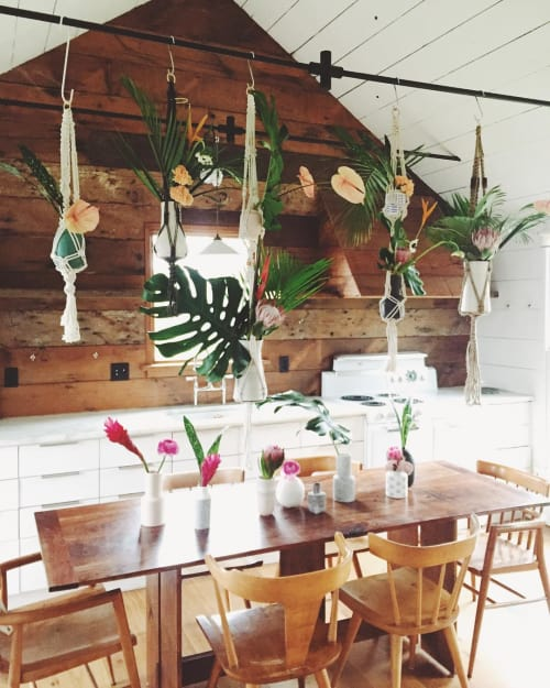 Macrame Wall Hanging by Modern Macramé by Emily Katz seen at Private Residence, Portland - Single Plant Hanger