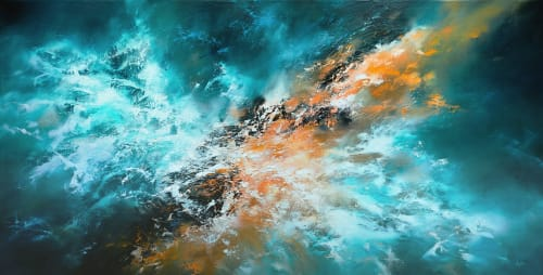 Paintings by Christopher Lyter Fine Art seen at Eclectic Gallery, London - Large Abstract Oil Painting