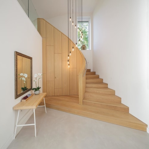 Architecture by Young & Norgate seen at Private Residence, Frome - Curving Staircase