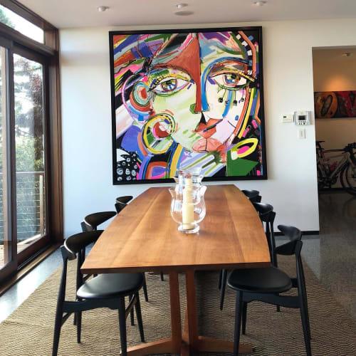 Paintings by Elena Bulatova seen at Private Residence, Sausalito - Abstract Painting