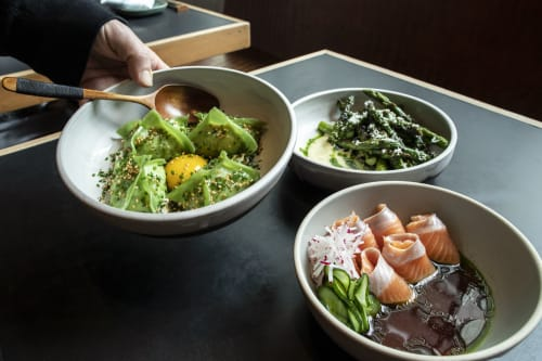 Tableware by Erin Hupp Ceramics seen at Onsen Bath & Restaurant, San Francisco - Onsen Bowls