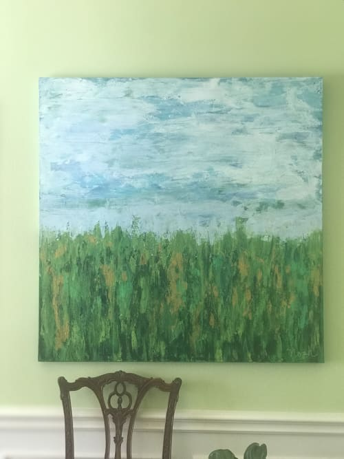 Paintings by Michelle B. Noah   Current Artist Workshop seen at Private Residence, Dallas - Hidden Pictures