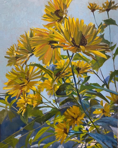 Paintings by Malou Flato seen at Private Residence, Pray - Sunflowers