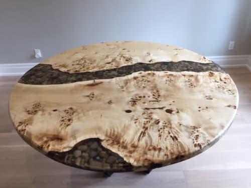 Furniture by Walnut River Table seen at Private Residence, Toronto - Ron Walmer