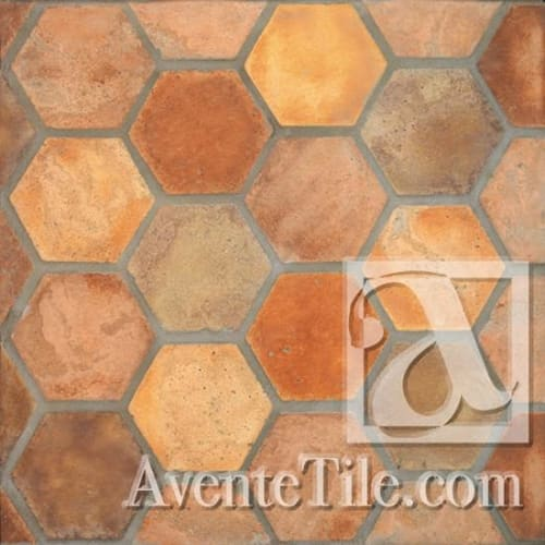 Tiles by Avente Tile seen at The Royal, Washington - Hexagon Tile