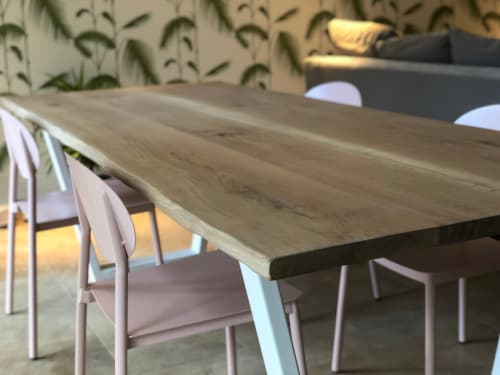 Tables by Rag & Byrne seen at Private Residence, London - Live Edge Table