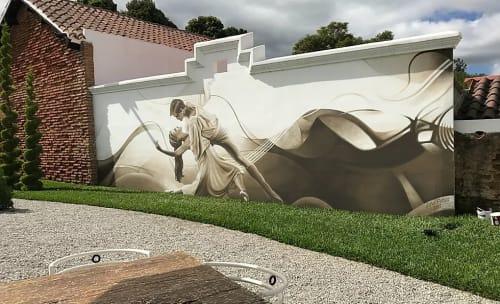 Murals by Levi Ponce seen at Conceptio, San Gaspar Vivar - Antigua, Guatemala