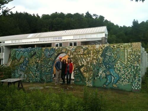 Public Mosaics by Bette Ann Libby seen at Yestermorrow Design Build School, Waitsfield - Yestermorrow wall Mural