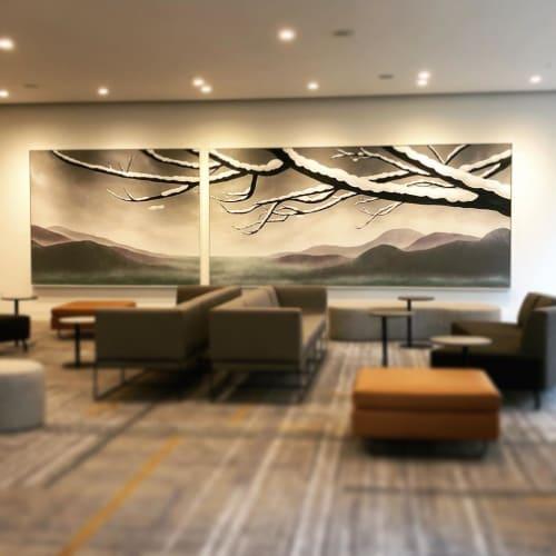 Paintings by Brooke Westlund Studio and Gallery seen at Hyatt Regency Seattle, Seattle - SHIFT: Air