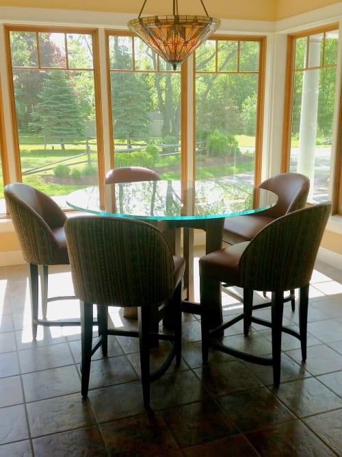 Tables by Against the Grain Studio, Inc. seen at Private Residence, Evans - Black Walnut Breakfast Table