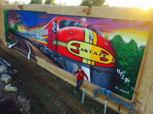 Murals by VELA ART seen at The Sage Hotel, Santa Fe - Super Chief