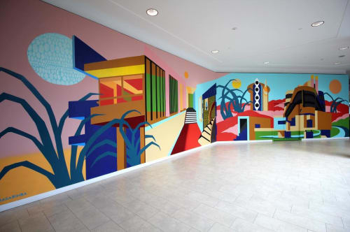 Murals by Nasarimba seen at Kingsway Mall, Edmonton - Impossible Room