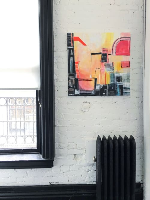 Paintings by Melanie Biehle seen at Private Residence, Seattle - No Direct Route