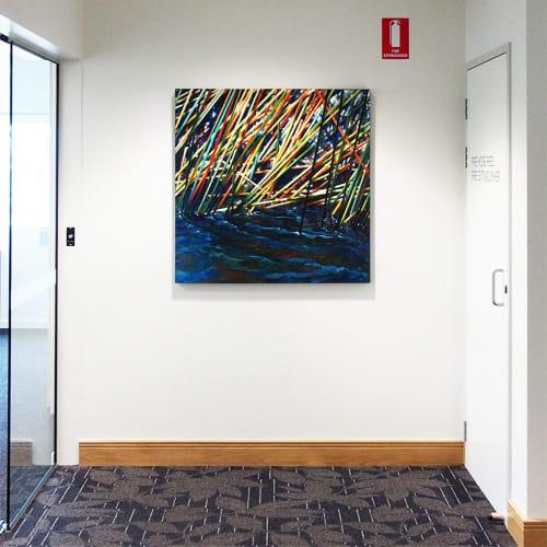 Paintings by Susan Schmidt seen at Sunshine Coast University Private Hospital, Birtinya - Blue Weaver_2012