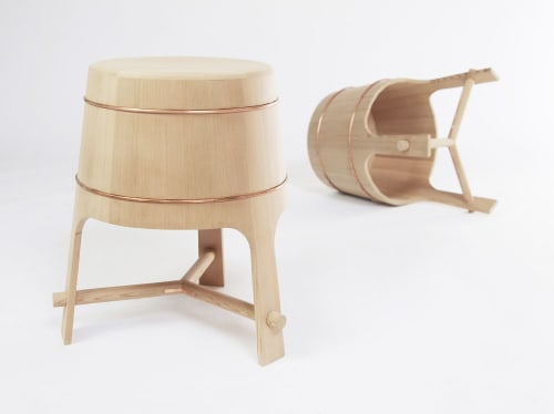 Furniture by Yvonne Mouser seen at Bay Area Made x Wescover 2019 Design Showcase, Alameda - Barrel Stool