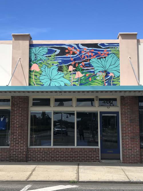 Public Art by Cindy Mathis Murals and Fine Art seen at 402 E Wright St, Pensacola - Cobalt Studio