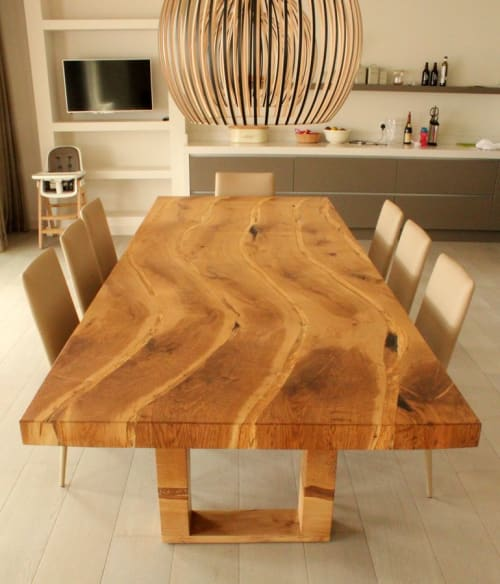 Tables by jonathan field seen at Private Residence, Cirencester - Dining Table